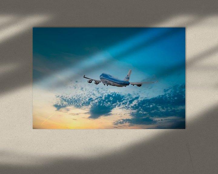 Sfeerimpressie: Boeing 747-406, KLM PH-BFN, KL2020, The City of Nairobi van Gert Hilbink
