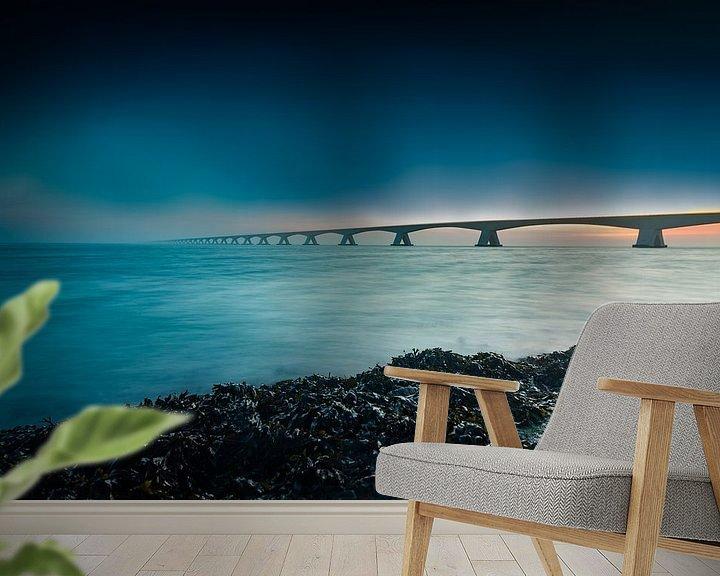 Sfeerimpressie behang: De Zeelandbrug van Fotografie in Zeeland