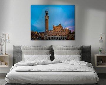 Palazzo Pubblico - Siena - long exposure van Teun Ruijters