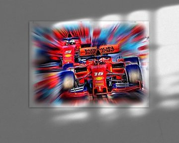 Italian Power 2019 - Leclerc versus VettelItalian Power 2019 - Leclerc versus Vettel von Jean-Louis Glineur alias DeVerviers