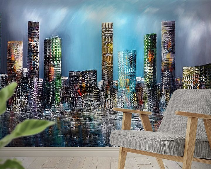 Beispiel fototapete: Skyline von Gena Theheartofart