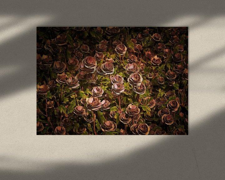Sfeerimpressie: Rozen – Een veld van Oud roze rozen van Jan Keteleer