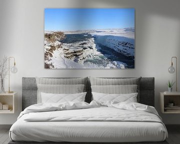 Waterval in IJsland van Charella Hulsbosch