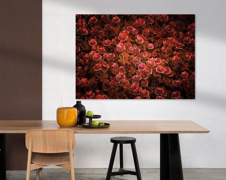 Sfeerimpressie: Rozen - Roze Bionica-rozen van Jan Keteleer