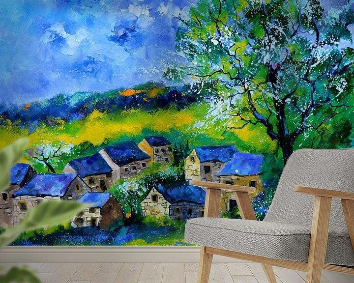 Beispiel fototapete: Village au printemps von pol ledent