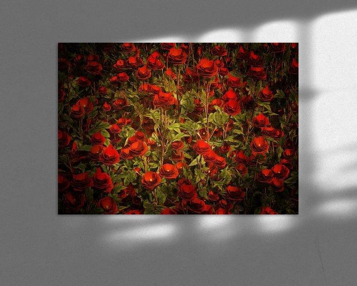 Sfeerimpressie: Rozen - Rode rozen van Jan Keteleer