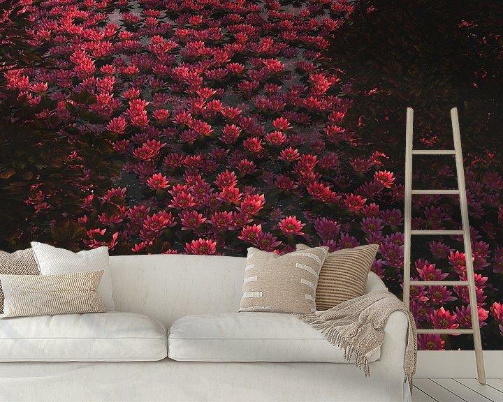 Sfeerimpressie behang: Waterlelies in de schaduw van Jan Keteleer