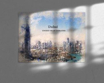 Dubai von Printed Artings