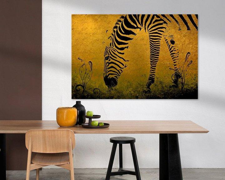 Sfeerimpressie: Zebra on Gold van Aimelle ML