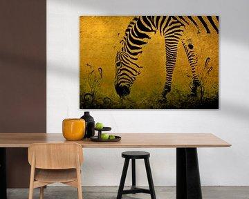 Zebra on Gold von Aimelle ML