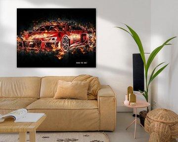 Audi van Printed Artings