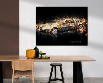 DeLorean van Printed Artings