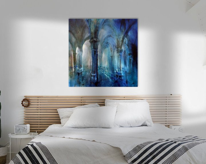 Beispiel: Blaue Säulenhalle von Annette Schmucker