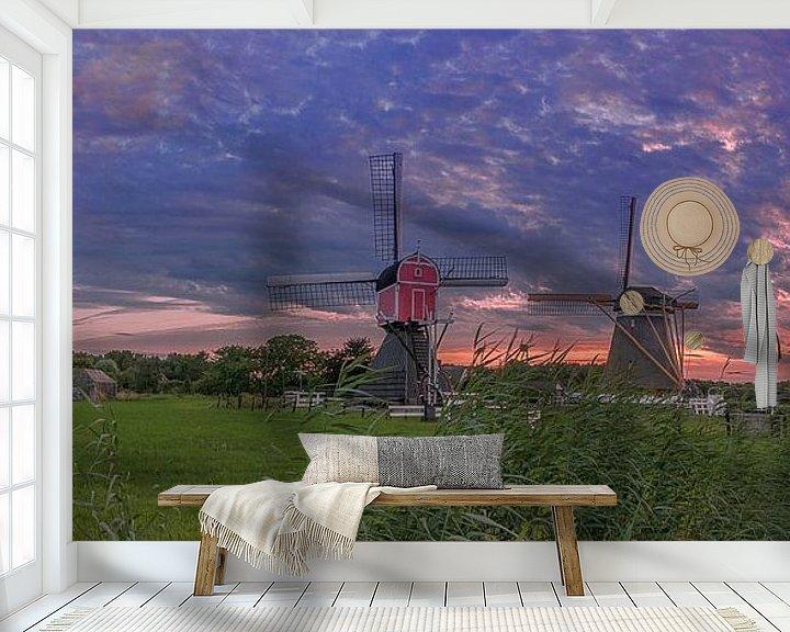 Sfeerimpressie behang: de molens van Oud Zuilen. van Robin Pics (verliefd op Utrecht)