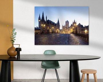 Gent - Sint-Michielsbrug bij zonsopkomst von Fotografie Krist / Top Foto Vlaanderen