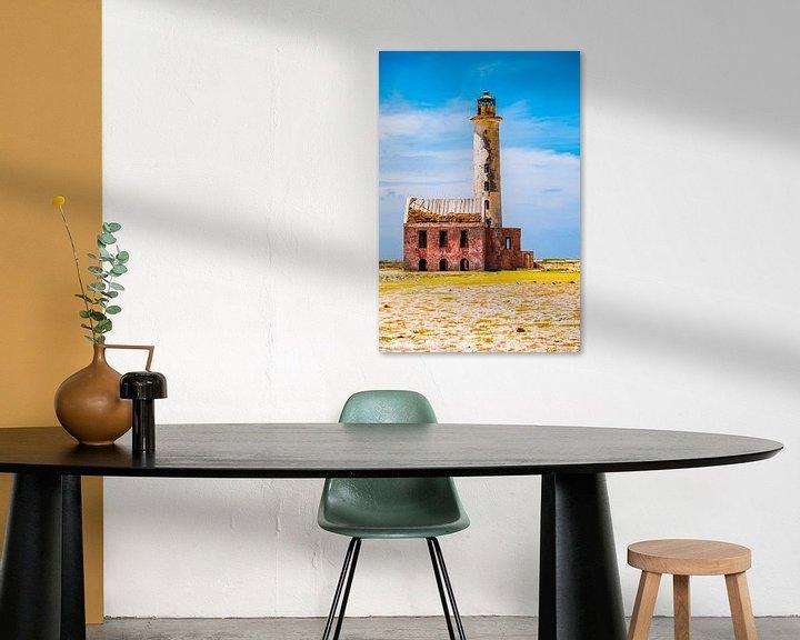 Beispiel: Bunter verlassener Leuchtturm bei klein Curaçao von Heleen Pennings