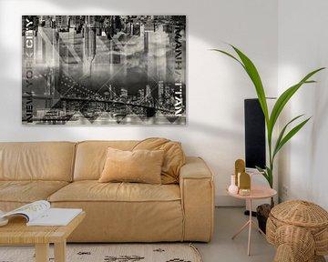 Modern Art MANHATTAN SKYLINES | Vintage von Melanie Viola
