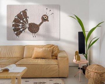 Peacock coffee van Elianne van Turennout