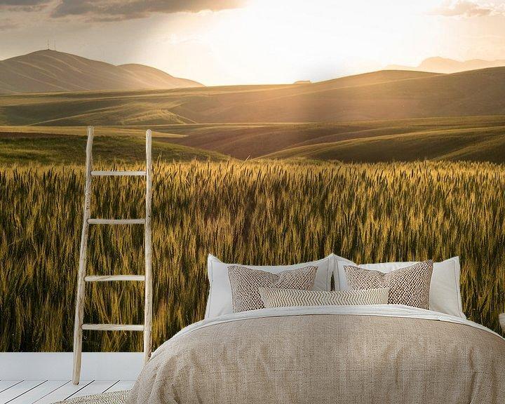 Sfeerimpressie behang: Golden sunset van Jeroen Kleiberg