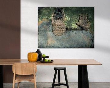 Oude betonnen muur Bunker Fotobehang 8 van Olivier Photography