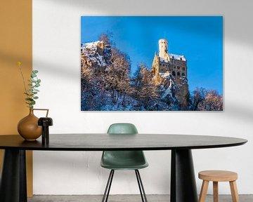 Kasteel Lichtenstein in de winter van Werner Dieterich