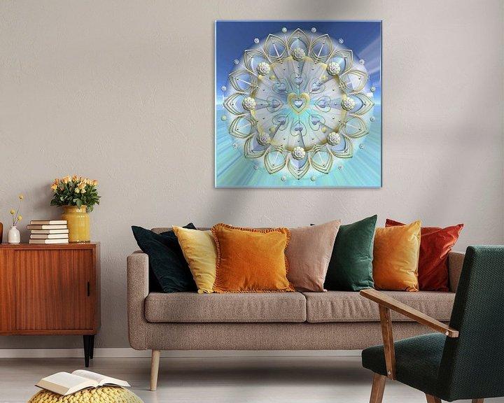 Sfeerimpressie: Mandala - Hart van goud van Shirley Hoekstra