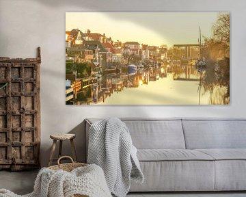 Leiden op zijn mooist - Oude Rijn van Dirk van Egmond
