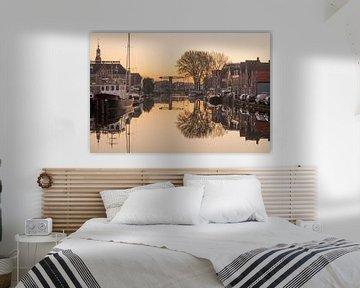 De Haven in Leiden van Dirk van Egmond