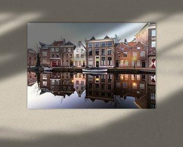 Oude Rijn in Leiden van Dirk van Egmond