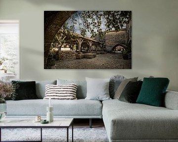 Dorpsgezicht Dordogne van Frans Scherpenisse