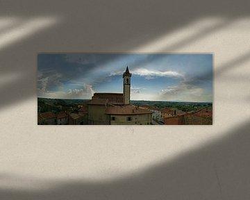 Panorama van Vinci, Toscane van Jeroen van Deel