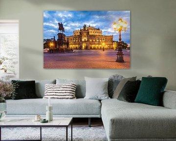 Semperoper in Dresden von Werner Dieterich