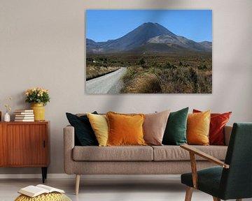 Mount Ngauruhoe (mount doom) Tongariro National Park van Jeroen van Deel