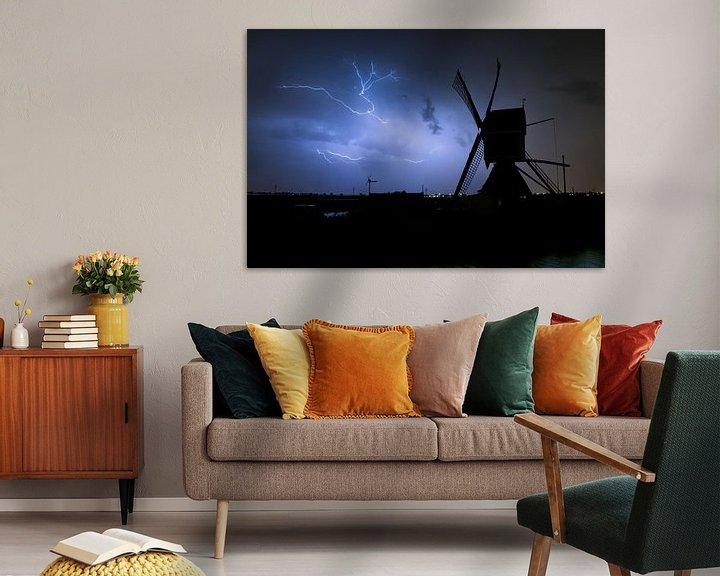 Beispiel: Blitz mit Windmühle von Menno van der Haven