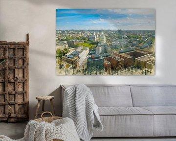 Gemalte Berliner Skyline II von Arjen Roos