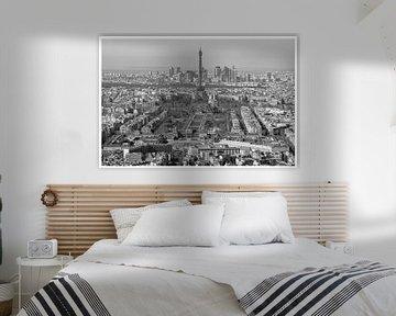 Panoramablick über Paris, Invaliden, La Defense und den Eiffelturm von Michaelangelo Pix