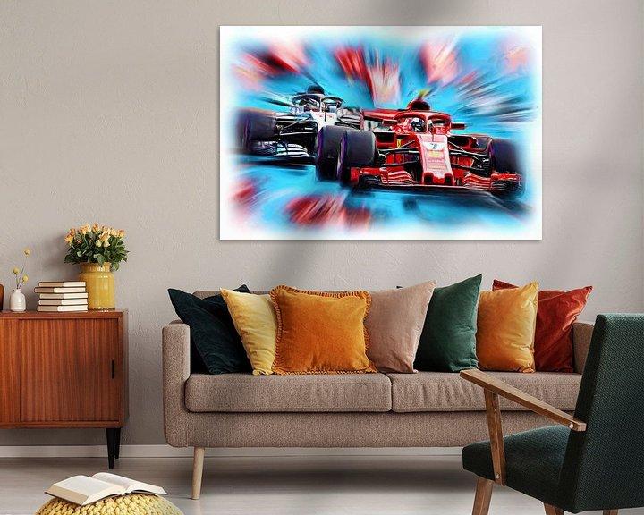 Beispiel: Kimi and Lewis on the Racetrack von Jean-Louis Glineur alias DeVerviers