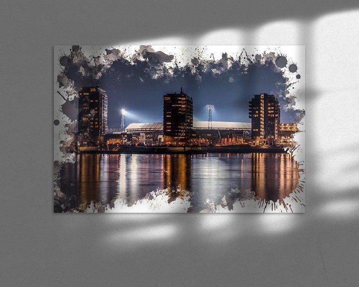 "Sfeerimpressie: Feyenoord ART Rotterdam Stadion ""De Kuip"" Nachtbeeld van MS Fotografie   Marc van der Stelt"