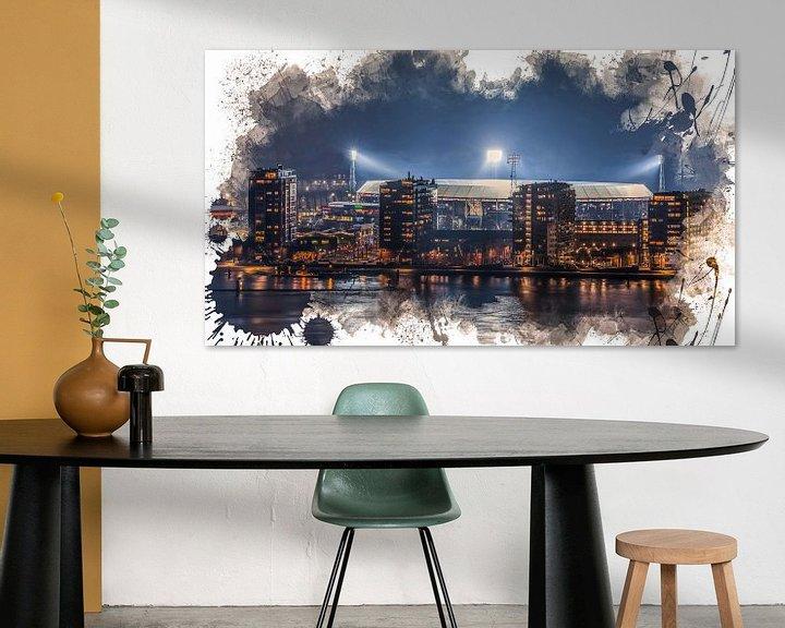 "Sfeerimpressie: Feyenoord ART Rotterdam Stadion ""De Kuip"" Luchtfoto van MS Fotografie | Marc van der Stelt"
