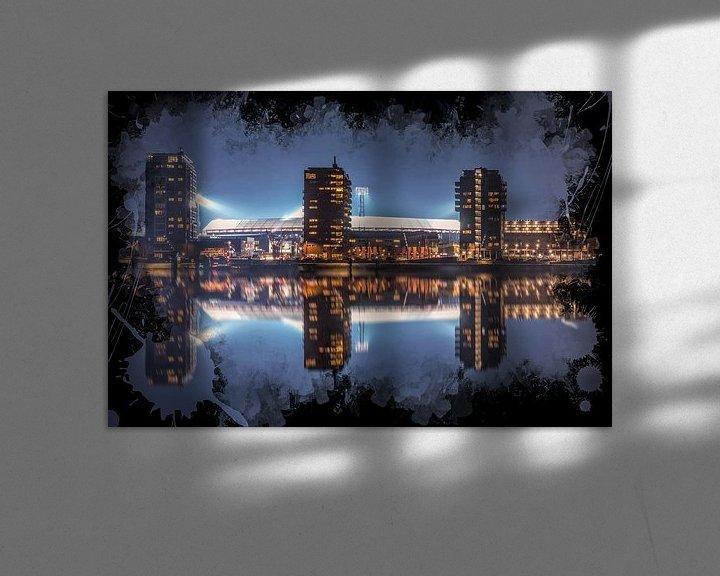 "Sfeerimpressie: Feyenoord ART Rotterdam Stadion ""De Kuip"" Reflectie van MS Fotografie   Marc van der Stelt"