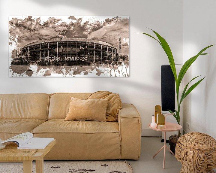 "Sfeerimpressie: Feyenoord ART Rotterdam Stadion ""De Kuip"" Sepia van MS Fotografie | Marc van der Stelt"