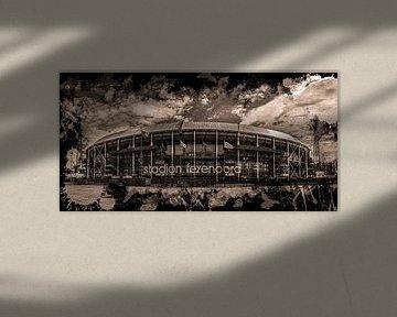 "Feyenoord ART Stade Rotterdam ""De Kuip"" Sépia"