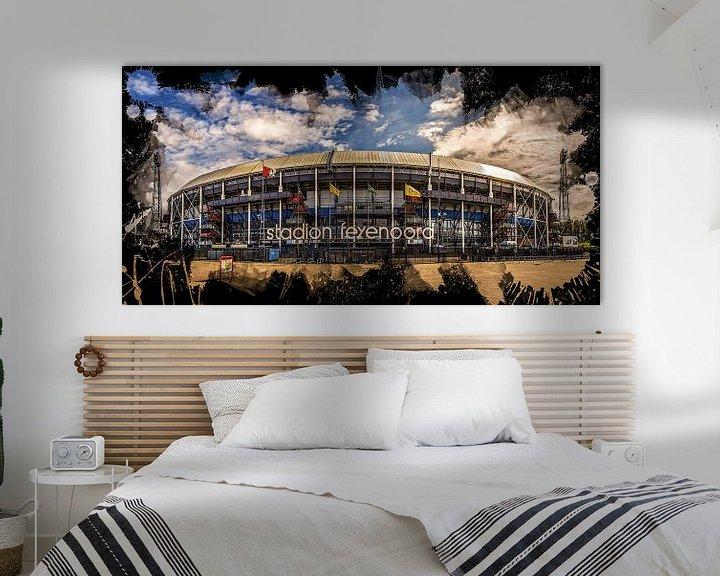 "Sfeerimpressie: Feyenoord ART Rotterdam Stadion ""De Kuip"" Voorkant van MS Fotografie | Marc van der Stelt"