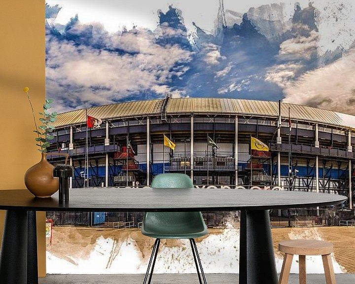 "Sfeerimpressie behang: Feyenoord ART Rotterdam Stadion ""De Kuip"" Voorkant van MS Fotografie   Marc van der Stelt"