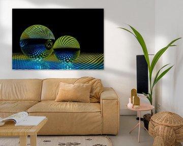 Kristallen bollen met reflectie van kleuren von Patricia Mallens