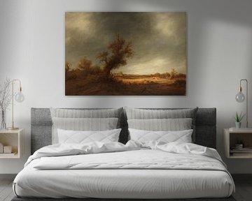 Landschaft mit alter Eiche, Adriaen van Ostade