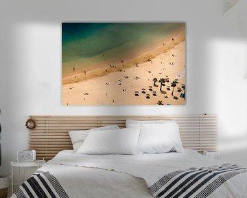 Blik op het strand van Tenerife van Boudewijn Vermeulen