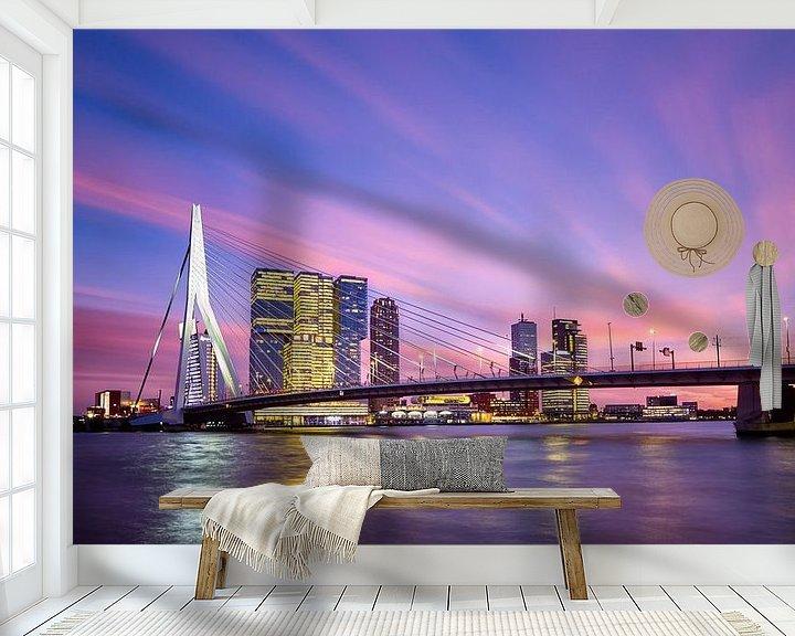Sfeerimpressie behang: Schoonheid boven Rotterdam van Sjoerd Mouissie