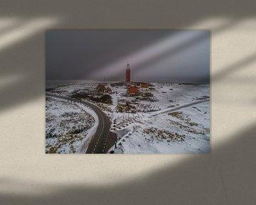 Winter op Texel - Vuurtoren Eierland van Texel360Fotografie Richard Heerschap