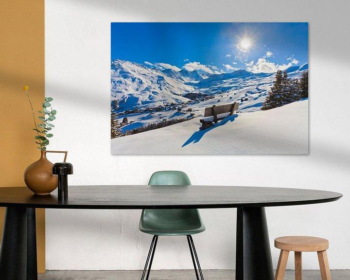 Sfeerimpressie: Verse sneeuw in Arosa van Werner Dieterich